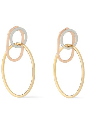ALEXANDER WANG Yellow, white and rose gold-tone hoop earrings