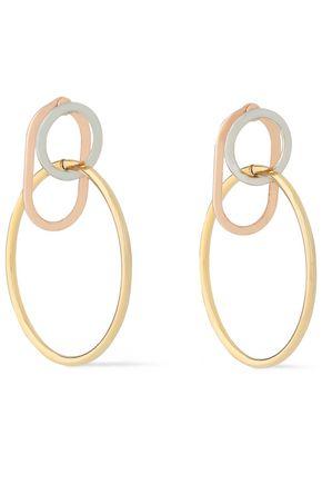 ALEXANDER WANG Yellow, white and rose gold-tone hoop earrings