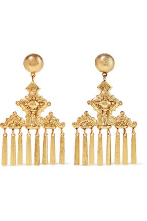 ELIZABETH COLE Oria 24-karat gold-plated earrings