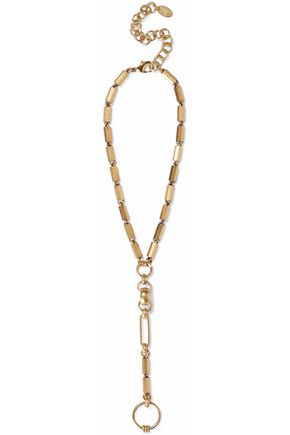ELIZABETH COLE Gold-tone necklace
