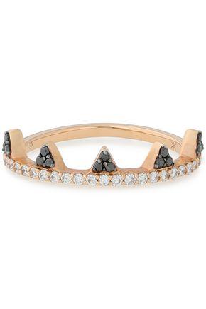 KHAI KHAI 18-karat gold diamond and sapphire ring