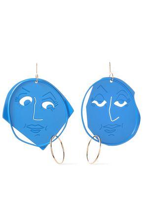 J.W.ANDERSON Gold-tone enamel earrings