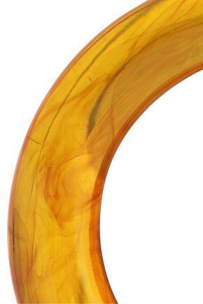 KENNETH JAY LANE Gold-tone resin hoop clip earrings