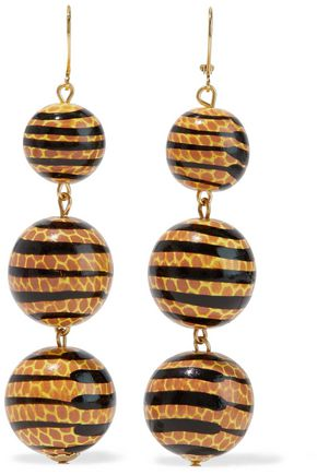 KENNETH JAY LANE Gold-tone beaded earrings