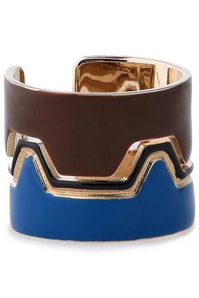 MISSONI Gold-tone enamel ring