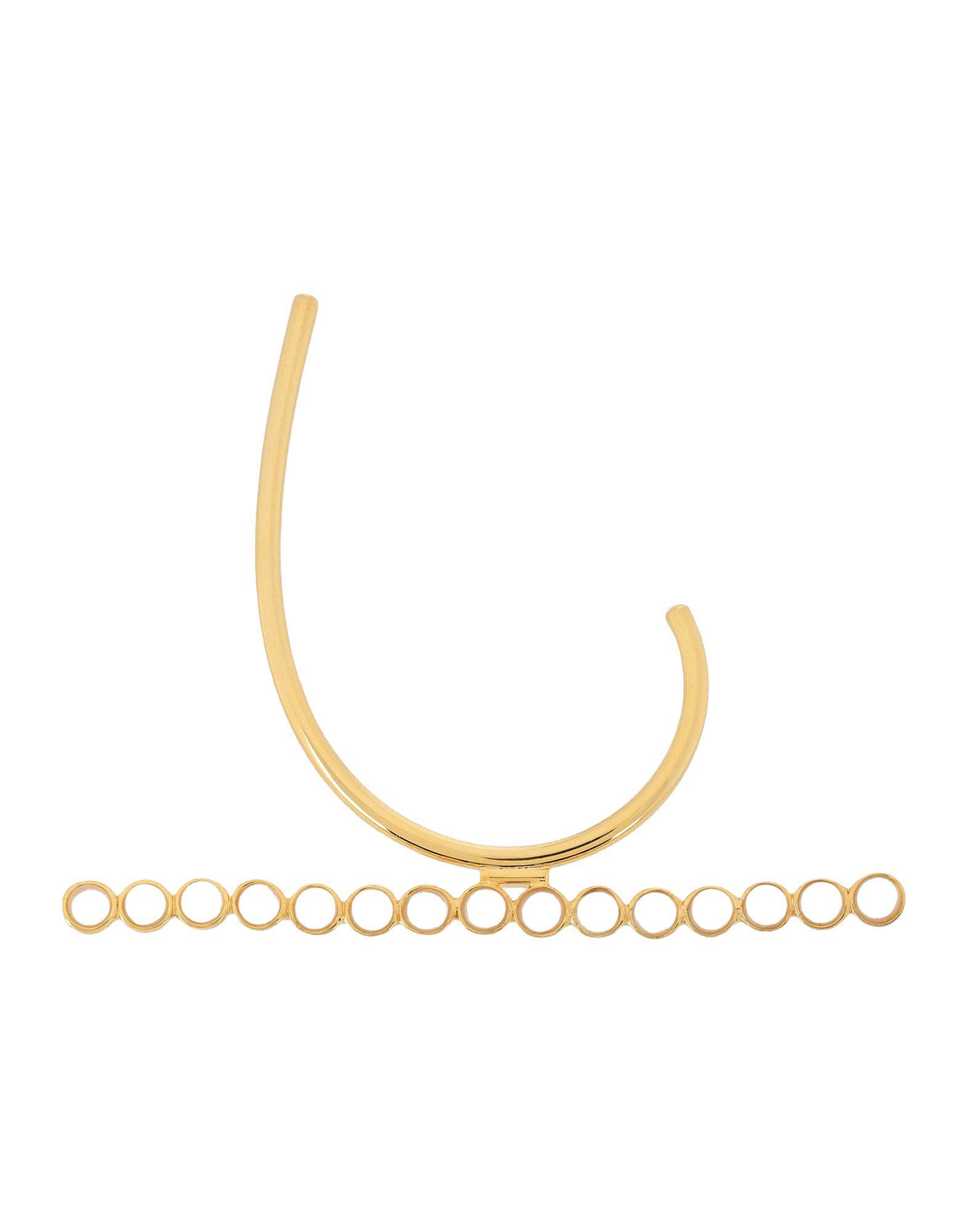 《期間限定 セール開催中》EK THONGPRASERT レディース ピアス&イヤリング ゴールド 真鍮/ブラス / ガラス Brass Ear Cuff With Semi Precious Stones