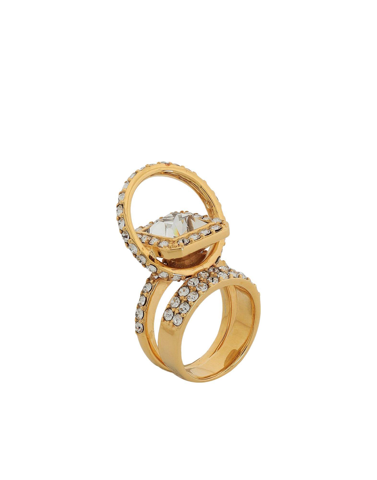 《セール開催中》EK THONGPRASERT レディース 指輪 ゴールド 51 真鍮/ブラス / スワロフスキー Brass With Swarovski Crystal