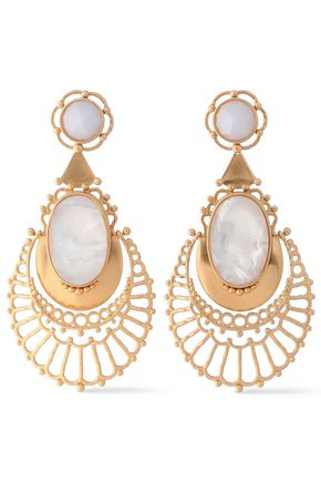 KATE SPADE New York Gold-tone crystal earrings