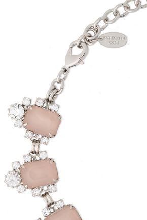 ELIZABETH COLE Silver-tone crystal necklace