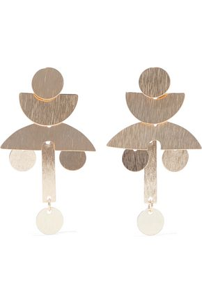 IRIS & INK Victoria 18-karat gold-plated sterling silver earrings