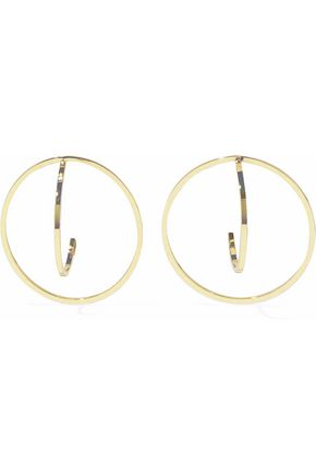IRIS & INK Marie 18-karat gold-plated sterling silver earrings