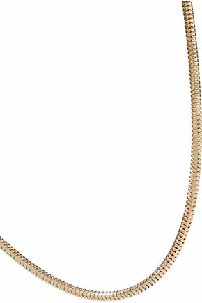 IRIS & INK Mary 18-karat gold-plated sterling silver choker