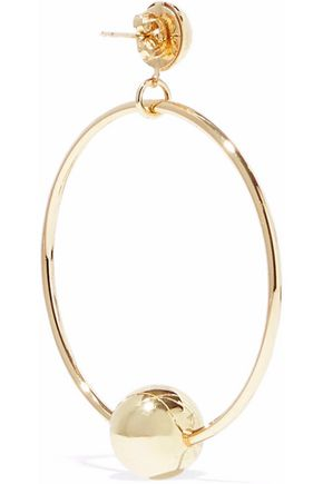 IRIS & INK Rani 18-karat gold-plated sterling silver hoop earrings