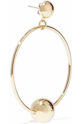 IRIS & INK Rani 18-karat gold-plated sterling silver hoop earrings
