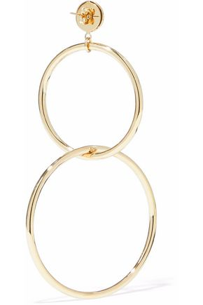 IRIS & INK Razia 18-karat gold-plated sterling silver hoop earrings