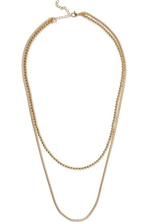 IRIS & INK Mariam 18-karat gold-plated sterling silver necklace