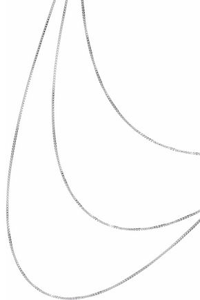 IRIS & INK Charlotte 18-karat white gold-plated sterling silver necklace