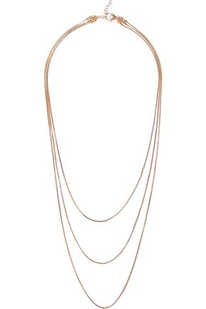 IRIS & INK Charlotte 18-karat gold-plated sterling silver necklace