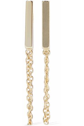 IRIS & INK Constance 18-karat gold-plated sterling silver earrings