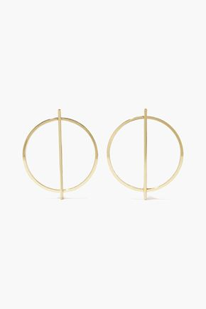 IRIS & INK Grace 18-karat gold-plated sterling silver hoop earrings