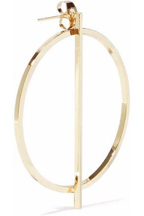 IRIS & INK Grace 18-karat gold-plated sterling silver hoop earrings