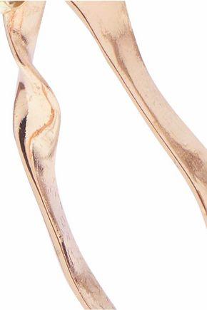 IRIS & INK Clara 18-karat gold-plated sterling silver hoop earrings