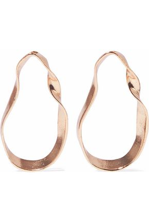 IRIS & INK Clara 18-karat gold-plated sterling silver hoop earrings