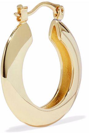 IRIS & INK Ameera 18-karat gold-plated sterling silver hoop earrings