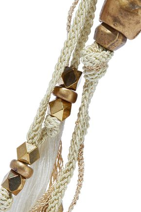 CHAN LUU Tasseled cord and bead necklace