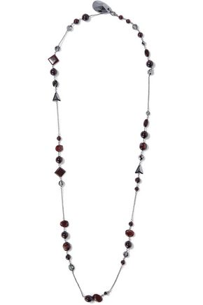 CHAN LUU Sterling silver bead and crystal necklace