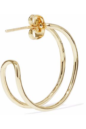 IRIS & INK Zhao 18-karat gold-plated sterling silver hoop earrings