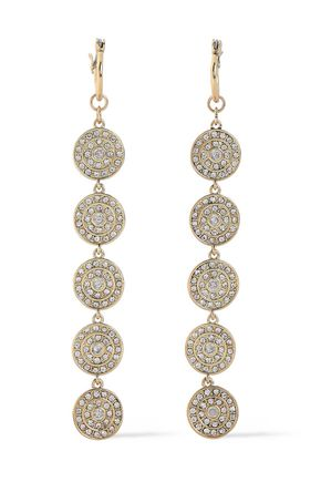 LUV AJ Gold-tone crystal earrings