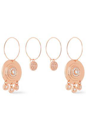 LUV AJ Rose gold-tone crystal earrings