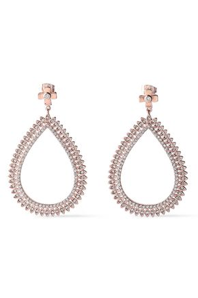 LUV AJ Cosmic rose gold-tone crystal earrings