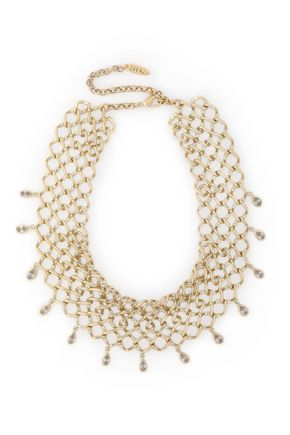 LUV AJ Cosmic gold-tone crystal necklace