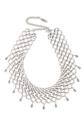 LUV AJ Cosmic silver-tone crystal choker