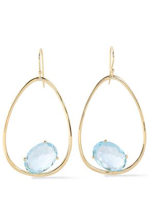 IPPOLITA Rock Candy gold-tone stone earrings
