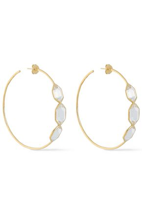IPPOLITA 18-karat gold quartz hoop earrings