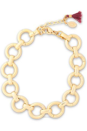IRIS & INK 18-karat gold-plated sterling silver bracelet