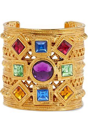 BEN-AMUN Gold-plated crystal cuff