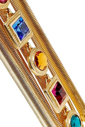 BEN-AMUN 24-karat gold-plated Swarovski crystal bracelet
