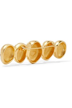 BEN-AMUN Gold-plated crystal brooch