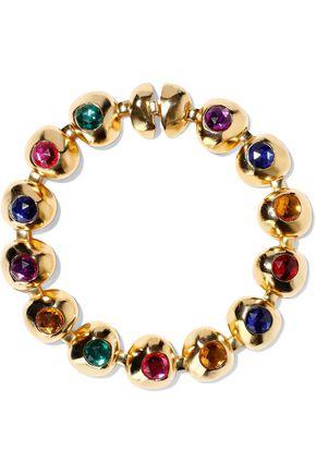 BEN-AMUN Gold-tone crystal choker