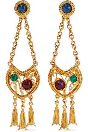 BEN-AMUN 24-karat gold-plated Swarovski crystal earrings