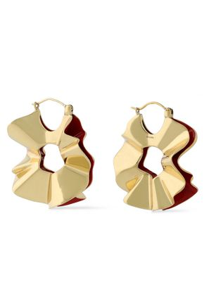 ELLERY Beton gold-tone earrings