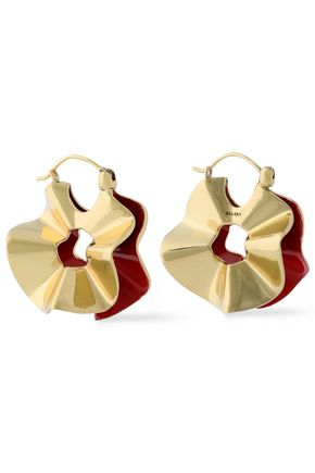 ELLERY Flourish gold-tone earrings