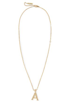 ELLERY Alphabet gold-plated necklace