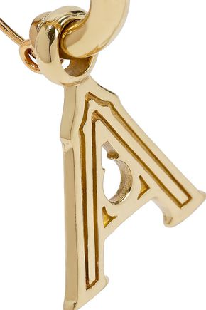 ELLERY Alphabet gold-plated earring