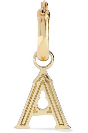 ELLERY Alphabet gold-plated earring