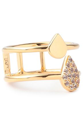 ELIZABETH AND JAMES Gold-tone crystal ring